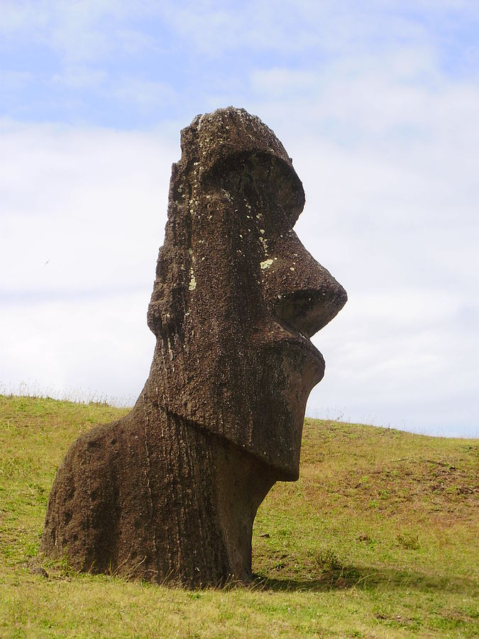 The religious leaders of Rapa Nui (Easter Island) thought they had the Law of Attraction all figured out.  It didn't turn out too well for them.  Photo credit 675px-Moái_de_Rano_Raraku,_en_Isla_de_Pascua, Wikimedia Commons.